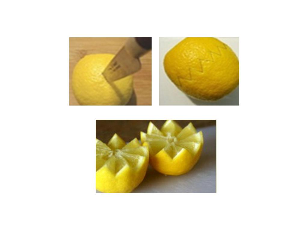 Comment d couper historier un citron en dents de loup - Comment nettoyer un citron traite ...