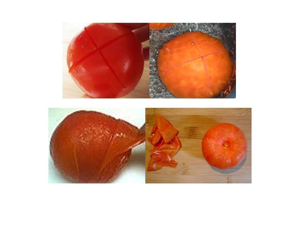 comment peler monder une tomate les d lices de. Black Bedroom Furniture Sets. Home Design Ideas